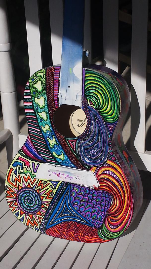 Guitar Art Psychedelic Graffiti Custom Paint Jobs
