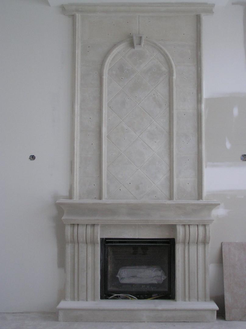 manteaux de foyers montreal Decor Roman Inc pierre reconstituée