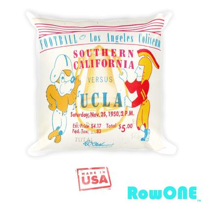 UCLA Retro Ticket Pillow