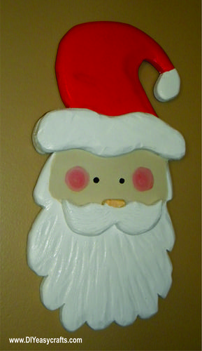Easy Diy Carved Santa Face Christmas Decoration