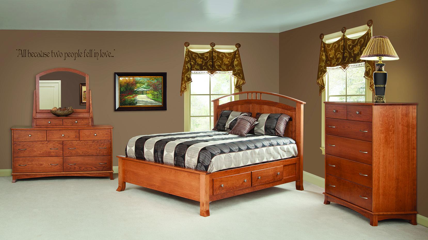 bedroom furniture - amish attic furniture - mentor, ohio