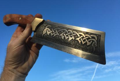 How to easily make a Celtic Cleaver knife. FREE step by step instructions. www.DIYeasycrafts.com