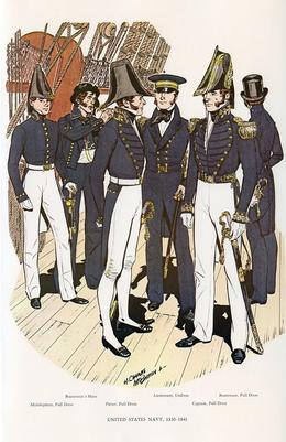 us navy uniforms history
