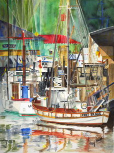 Sailboats, Tracy Harris Watercolor Artist, Limited Edition Giclee Available