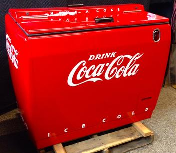Coca-Cola Westinghouse Chest Cooler antique soda machine