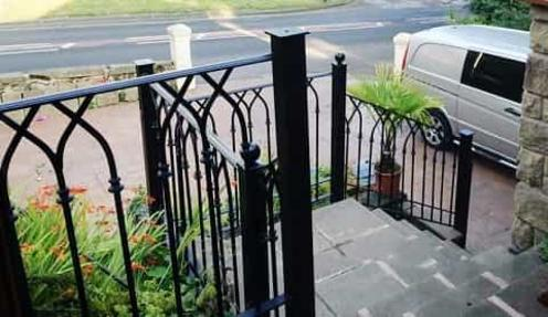 Contemporary modern style railings and metal gates