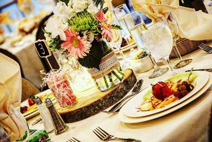 Table scape at Mill Creek Caterers in Hopewell Junction, NY