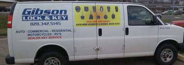 Locksmith Gibson Lock and key in Franklin NC van