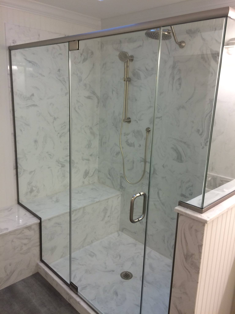Cultured Marble Shower Enclosures Marble Tech St Charles Mo - Cultured marble shower stalls