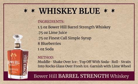 Whiskey Blue, Bower Hill Barrel Strength Whiskey Recipe