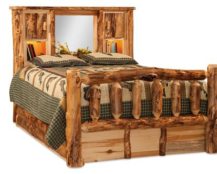 with bedroom log furniture bed everything bears shop cabin carved homes