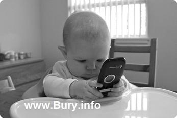Baby on Mobile phone