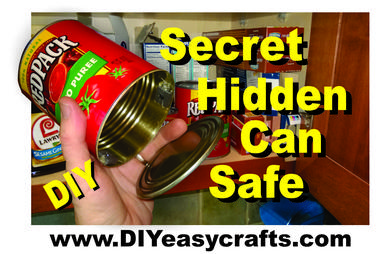 DIY Secret Hidden Can Safe. www.DIYeasycrafts.com