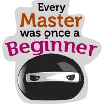 Every Master Was Once A Beginner Custom Sticker
