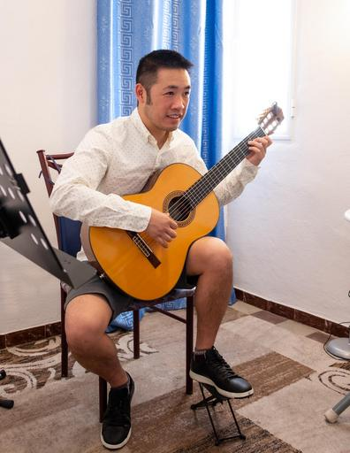 reviewing a falseta after a flamenco lesson