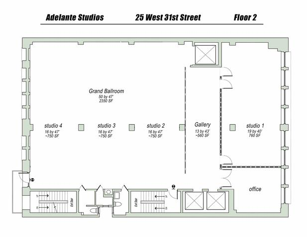 Studios floor plan for Photography studio floor plans
