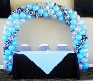 BLUE AND THE MASK BALLOON ARCH
