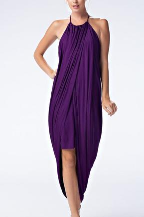 Purple Drape Dress