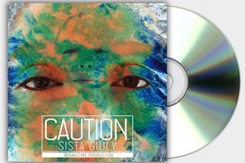 CAUTION SISTA GIULY COVER COPERTINA CD REGGAE RISING TIME DESIGN PROJECT DESIGN107