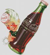 Cross Stitch Chart Pattern of Coca cola Bellboy