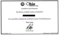 Online Training for Ohio Level 2 Food Safety Certidfication