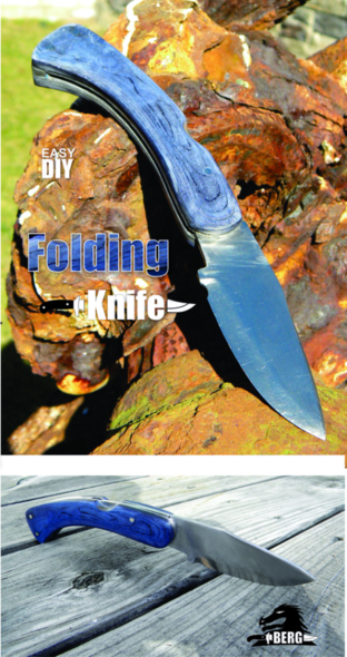 How to make a DIY folding knife. www.DIYeasycrafts.com