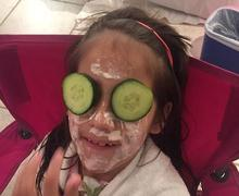 pamper'd facial service; strawberry facial
