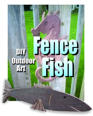 DIY Fence Fish made from recycled Trex. Easy to make Sea Horse or fish. www.DIYeasycrafts.com