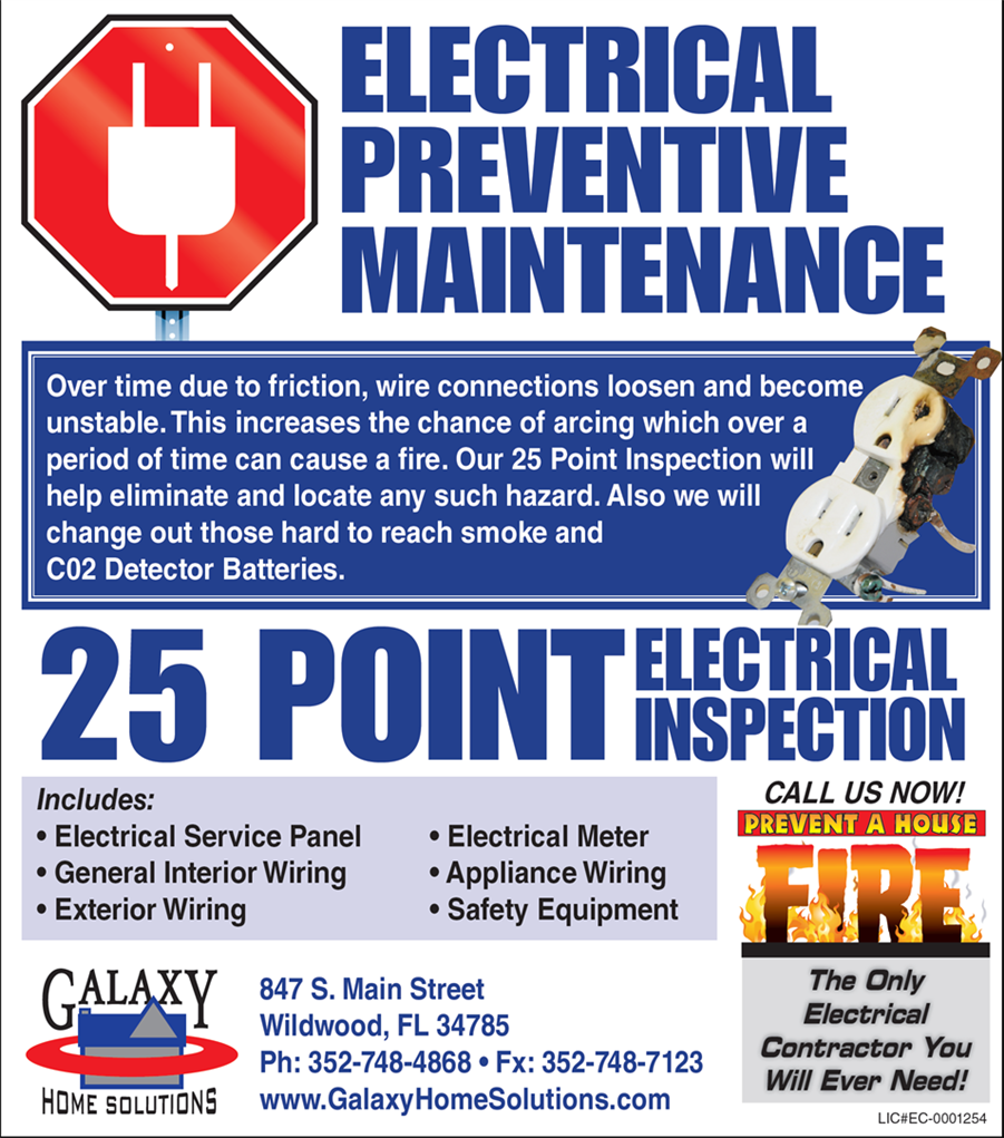 25 Point Electrical Inspections House Wiring Safety