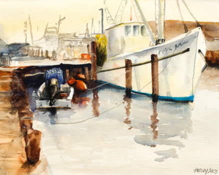 Painting Boats in Watercolor Class with Stacey Sass
