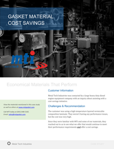 Gasket Material Cost Savings