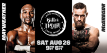Miami events; Mayweather vs McGregor; Fight
