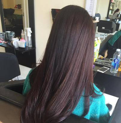 Long Chocolate Brown Hair Precision Salon Eastwood Leigh On Sea Essex