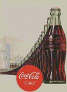 Cross Stitch Chart Pattern of Wall of Coca Cola Bottles