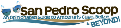 Belize travel blogger, logo link to san pedro scoop travel blog
