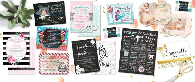 Graphic Design - Invitations and small business needs