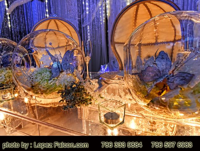 quinceanera party Westin Colonnade hotel Quinces Party Coral Gables Stage Decoration quince centerpieces