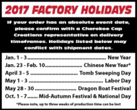 2017 Factory Holidays PDF