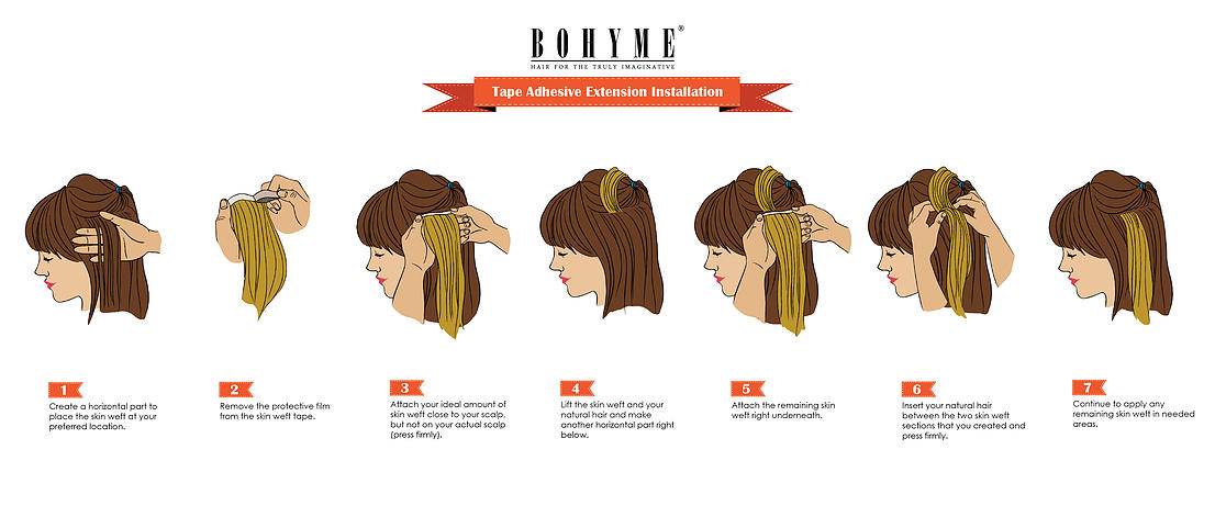 Hair Extension Application And Care