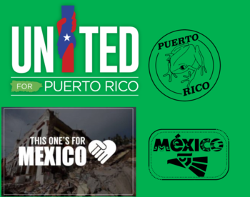 Throughout the month of October all proceeds from Mexico and Puerto Rico stamp donated