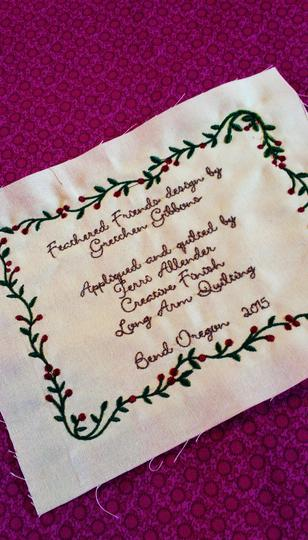 Embroidery Quilt Label Designs : Embroidered Quilt Labels