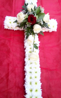 Rose Funeral Cross | Funerals Flowers | The Little Flowershop