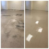 vct floor before and after cleaning service