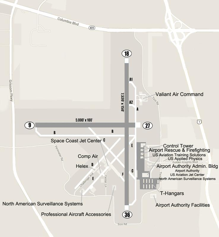 Diagram of Space Coast Regional Airport