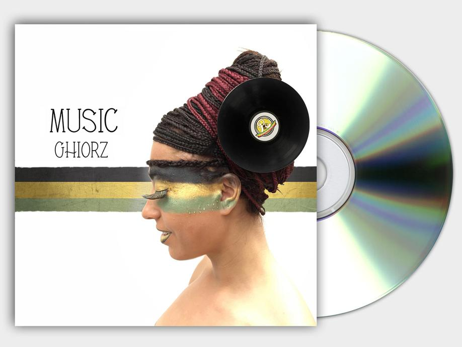 MUSIC GHIORZ COVER COPERTINA CD RISING TIME GRAFICA PROJECT DESIGN DESIGN107