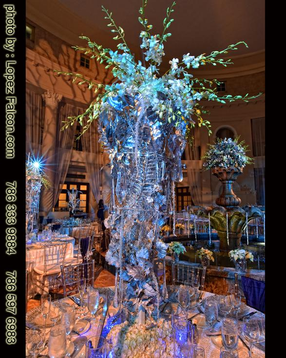 winter wonderland quinceanera centerpieces miami Photo Video Westin Colonnade Hotel Coral Gables