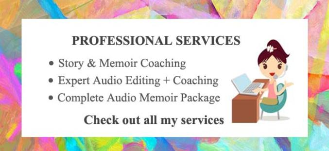 story coaching and audio editing services