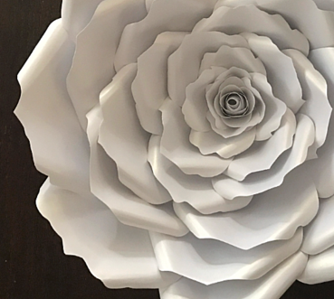 White Paper Roses for Babyshowers and Weddings, Paper Flowers by LaDi with a BaBy