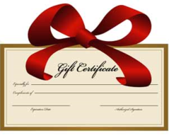 Gift Card Gift Certificates Holiday Anniversary Celebrate