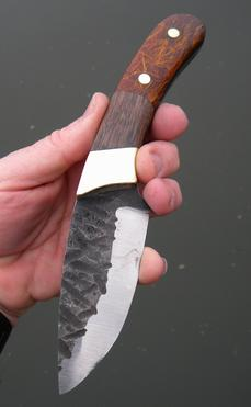 How to make a beautiful hunter style knife with rustic scalloped blade and straw micarta scales. FREE step by step instructions. www.DIYeasycrafts.com